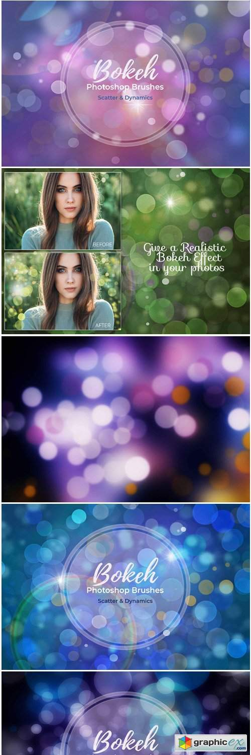 15 Bokeh Photoshop Brushes