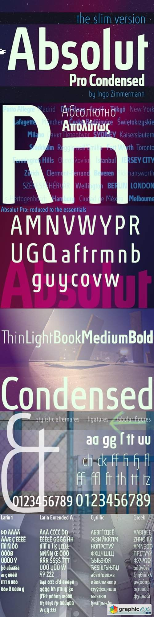 Absolut Pro Condensed Font