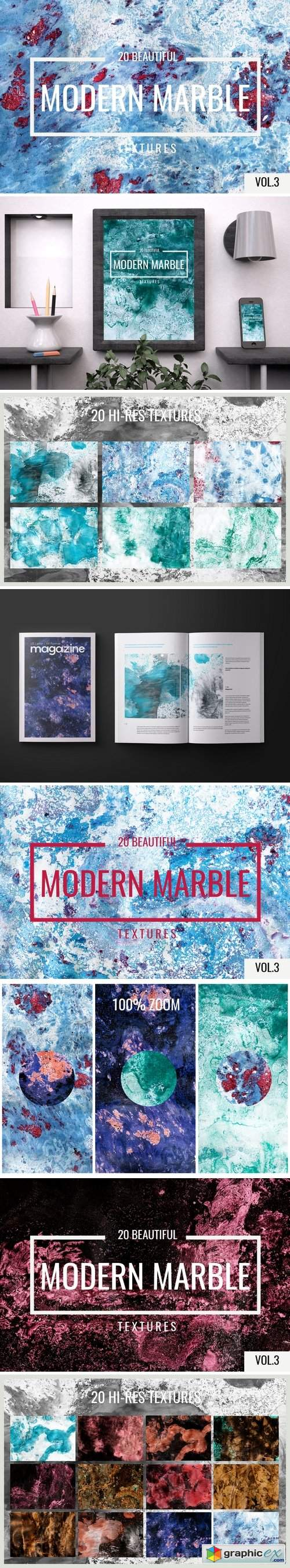 Modern marble vol.3 textures backgrounds overlays backdrop