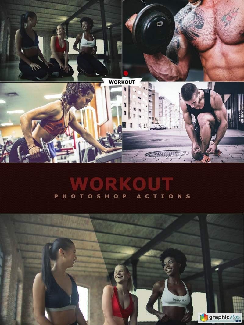 Workout Photoshop Actions
