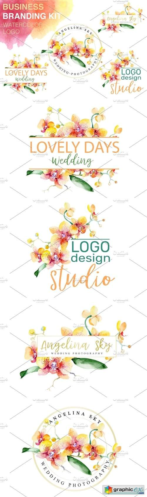LOGO with beautiful orchids
