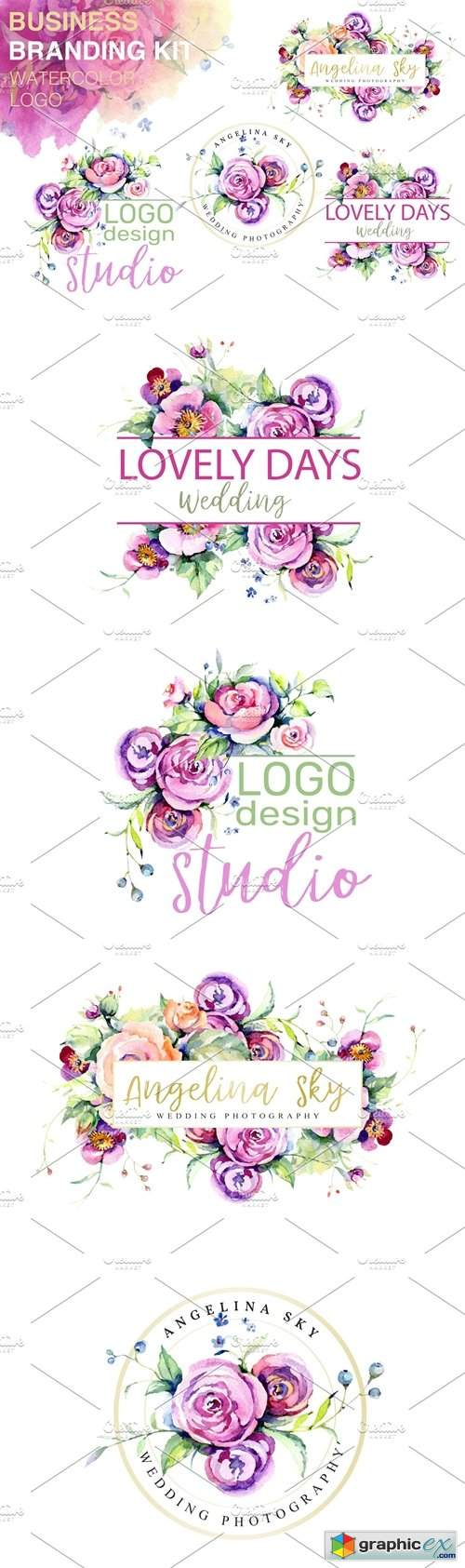 LOGO with roses and wildflowers