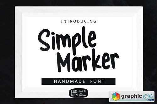 Simple Marker Font