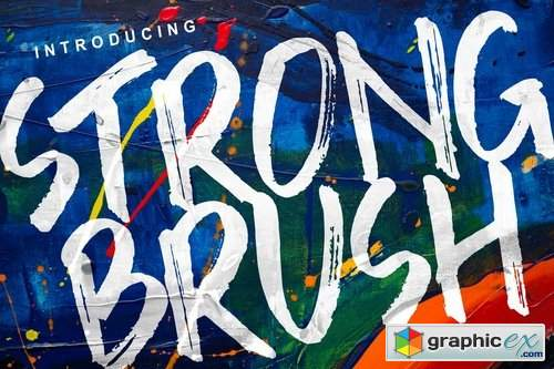 Strong Brush Font