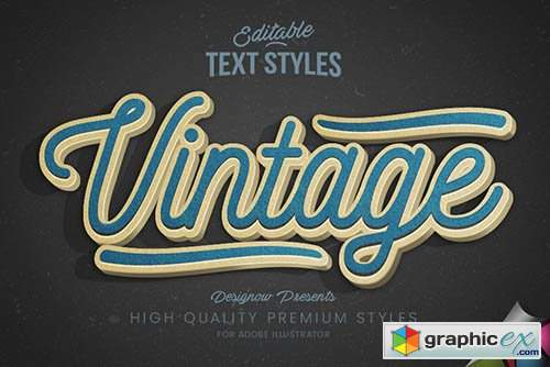 Blue Vintage Text Style