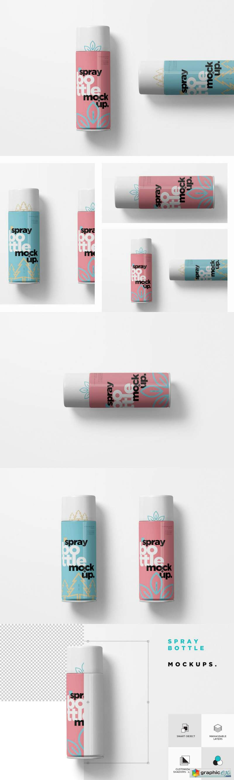 Spray Bottle Mockups