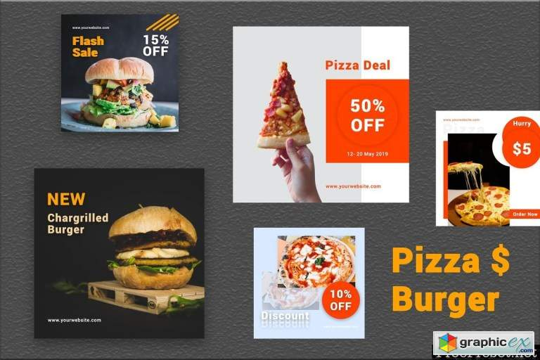 Pizza & Burger- Social Media Bundle