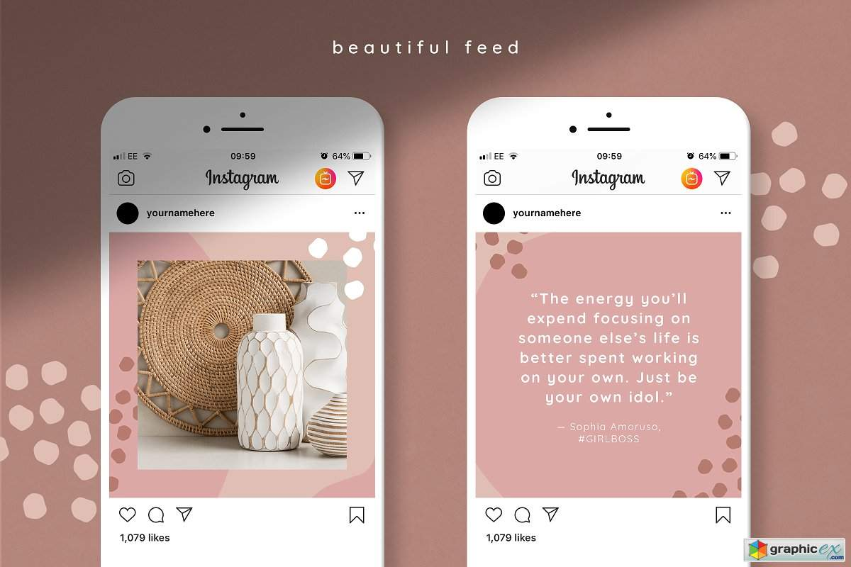 Instagram quotes puzzle template