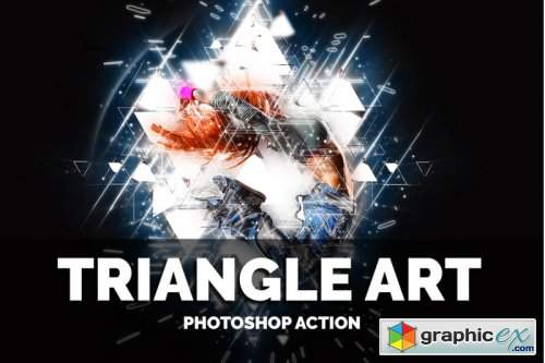 Triangle Art Photoshop Action