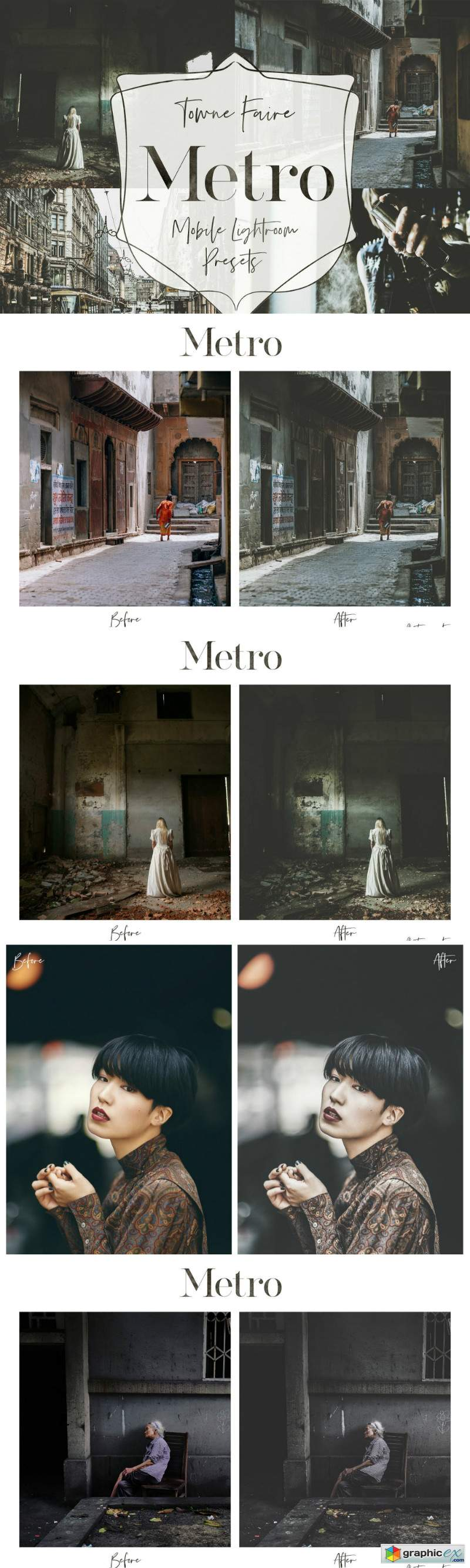 Metro - Mobile Lightroom Presets