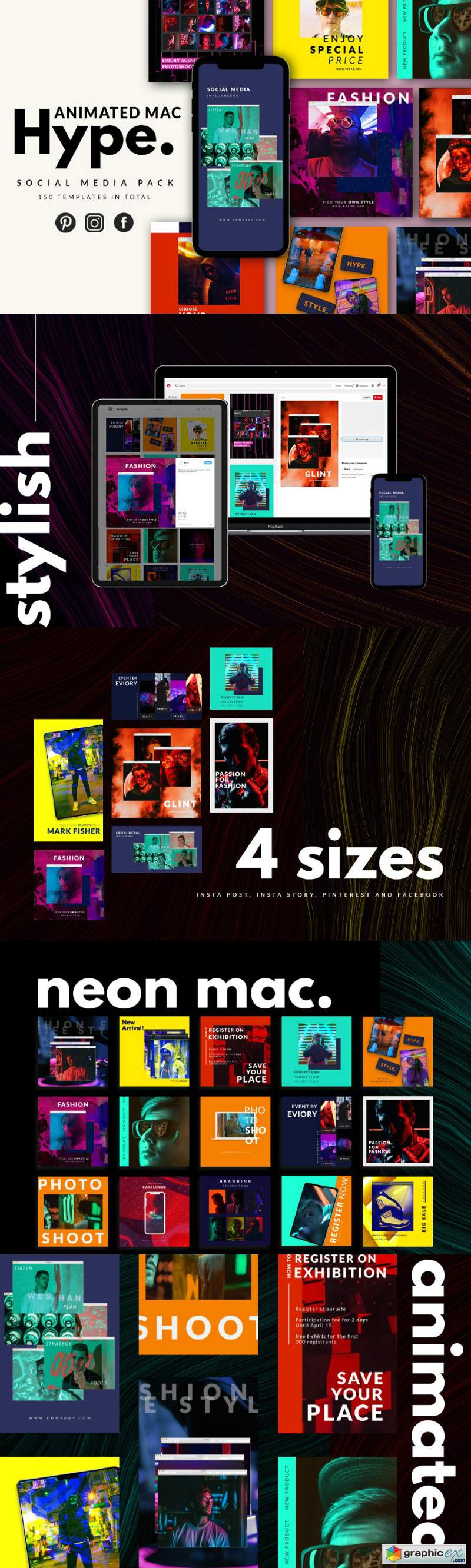 Animated Mac Hype Instagram Pack » Free Download Vector