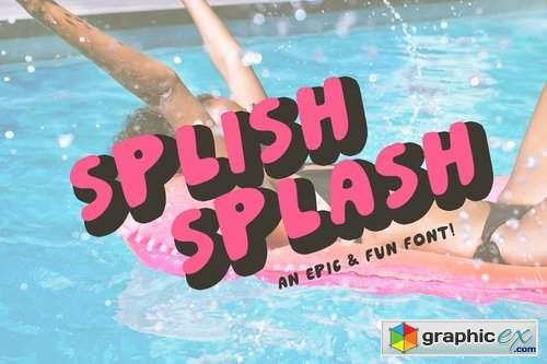 Splish Splash! Playful Sans Serif