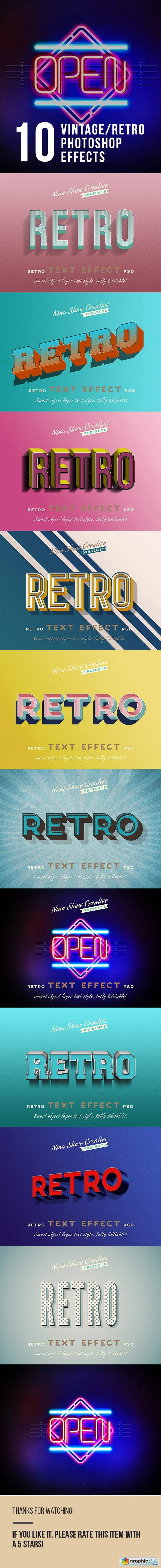 Retro Vintage Text Effects 23825859