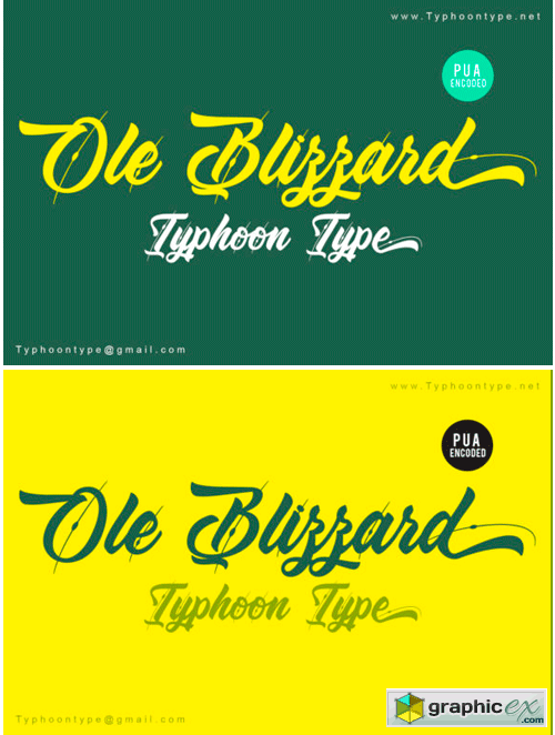 Ole Blizzard Font » Free Download Vector Stock Image Photoshop Icon