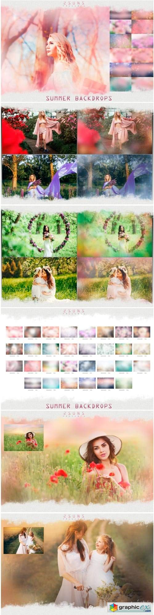 Photo Overlays Summer Backdrops