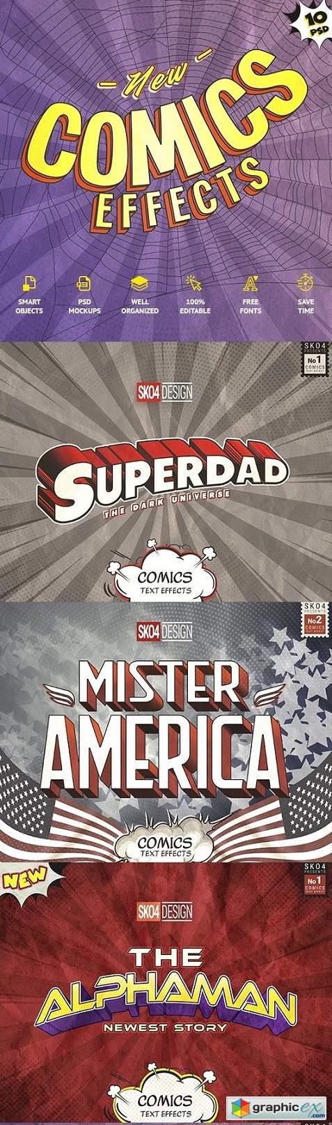Comics Text Effects » Free Download Vector Stock Image