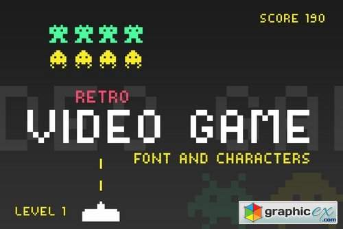 Video Game Font » Free Download Vector Stock Image Photoshop Icon