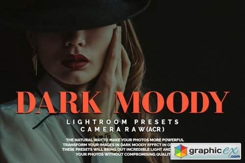 Dark Moody Lightroom Presets and Camera Raw(ACR) » Free Download