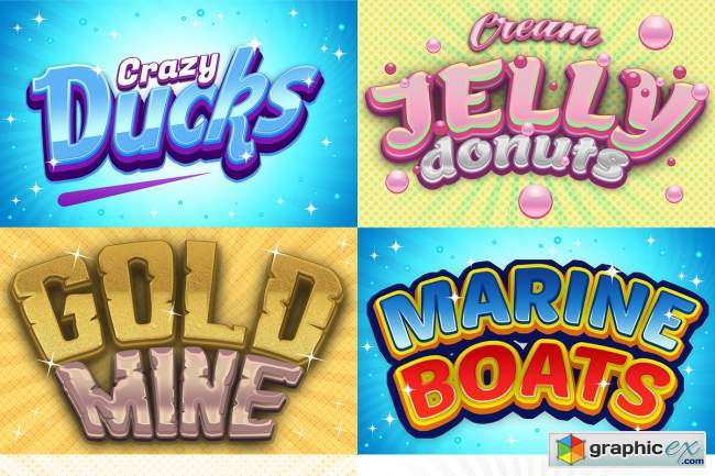 Game Logo Text Effect Styles Bundle
