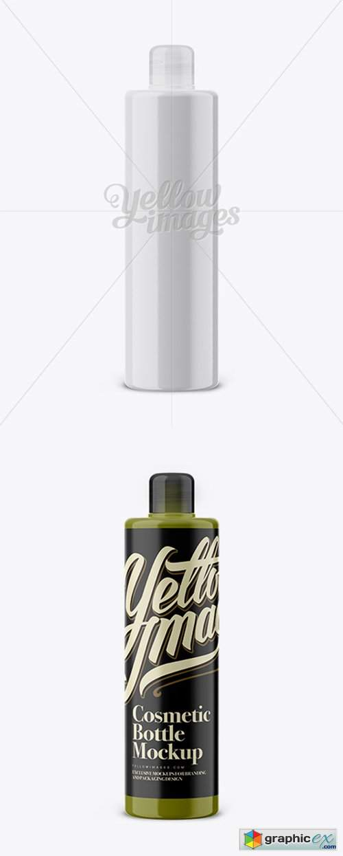 Round Cosmetic Bottle With Frosted Screw Cap Mockup