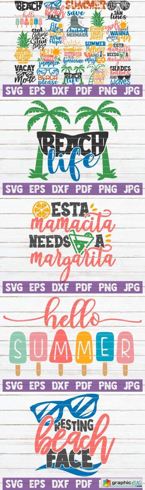 Summertime SVG Bundle | Beach Life SVG