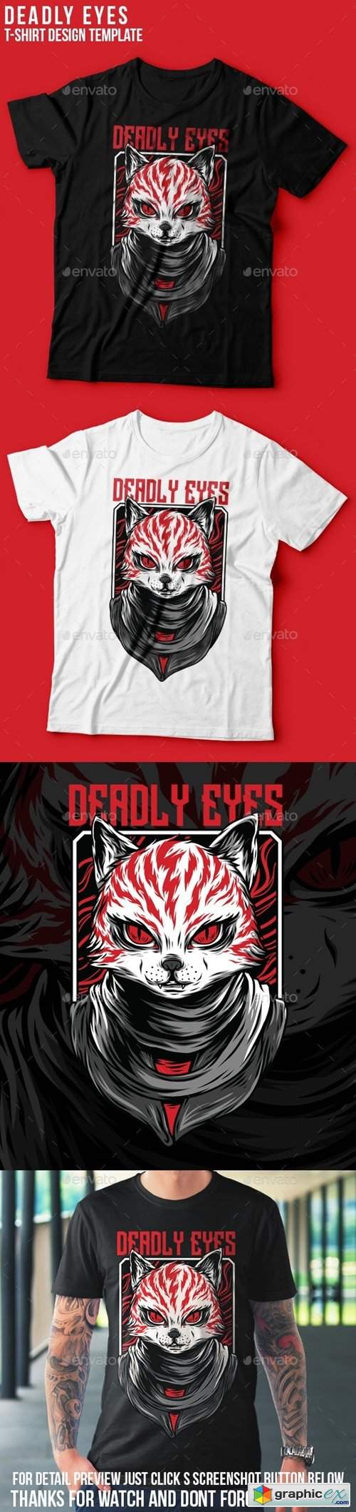 Deadly Eyes T-Shirt Design