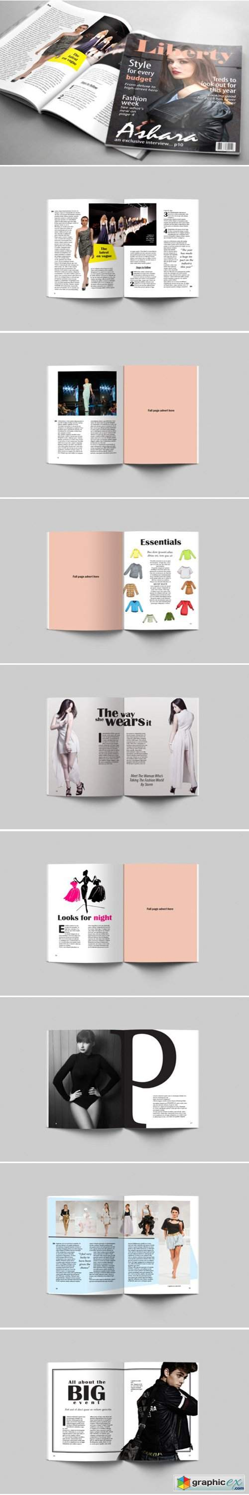 24 Page Fashion Magazine Template