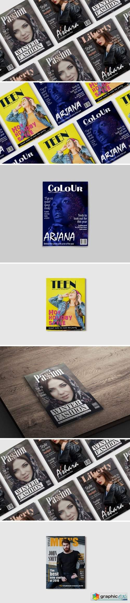 10 Fashion Magazine Template Covers