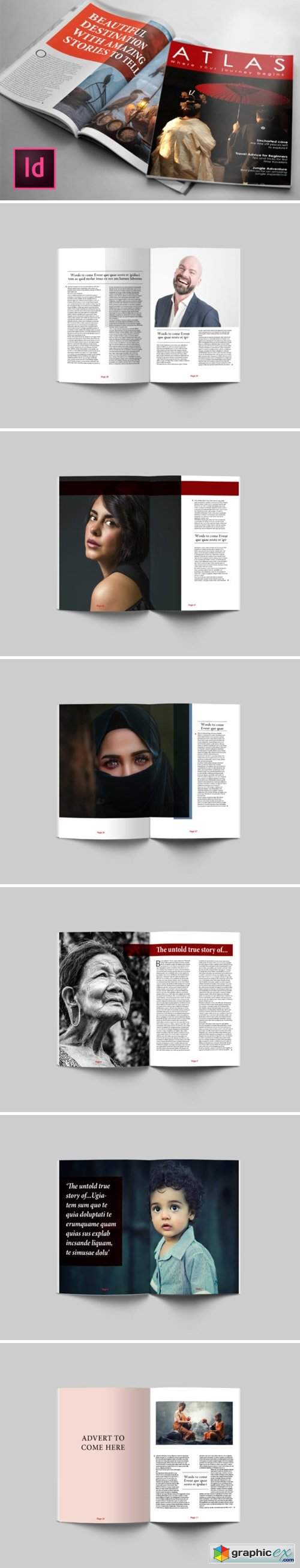 80 Page Lifestyle Magazine Template