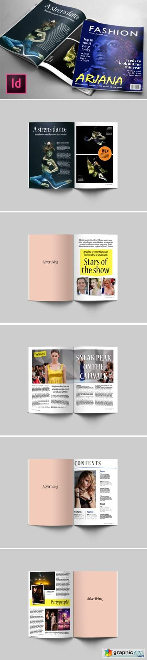Fashion 24 Page Magazine Template