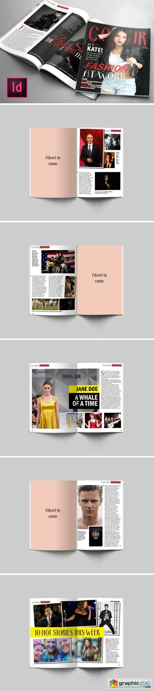 24 Page Fashion Magazine Template 1597242