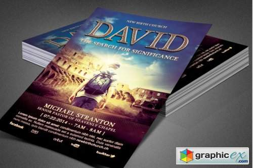 David Church Flyer Template