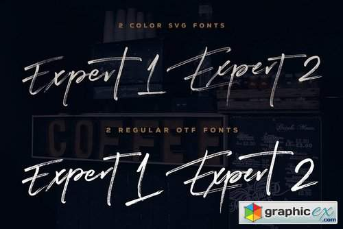 Expert Brush & SVG Font » Free Download Vector Stock Image Photoshop