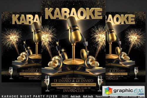 Karaoke Night Party Flyer 3917397 » Free Download Vector Stock Image