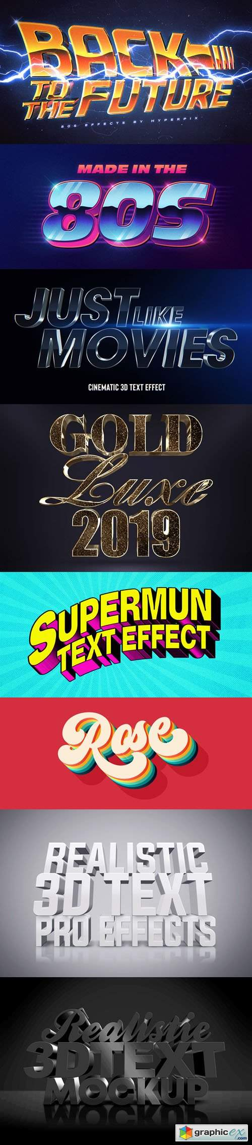 8 Awesome 3D Text Effects for Photoshop