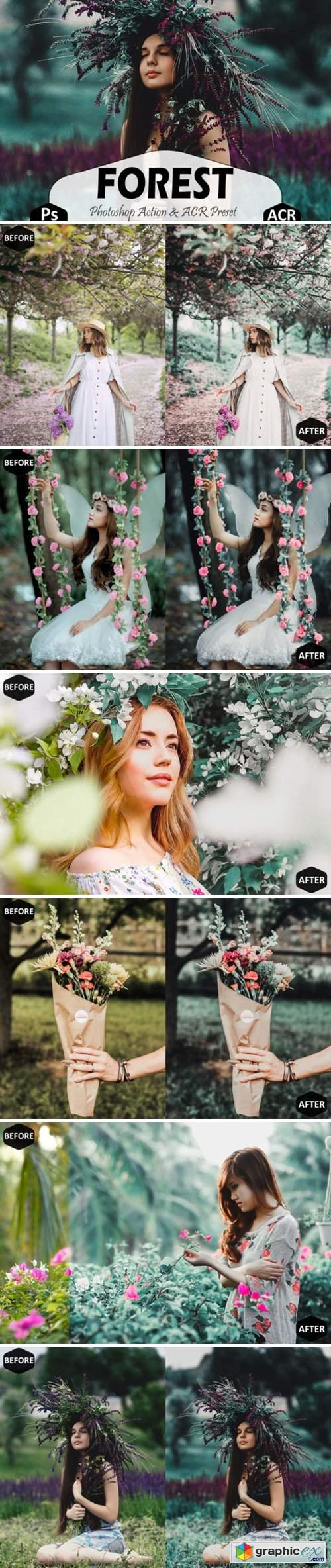 Forest Photoshop Actions and ACR Presets