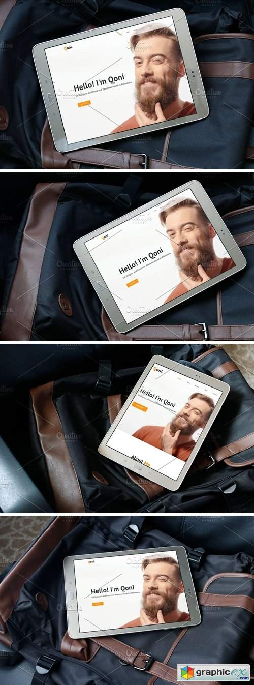 Android Tablet Realistic PSD Mockups