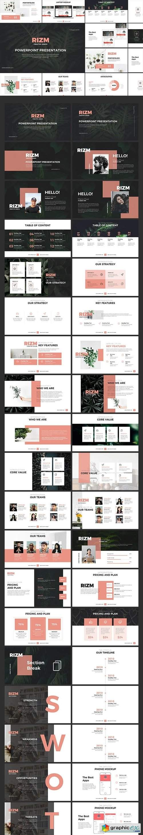 Rizm Powerpoint Templates
