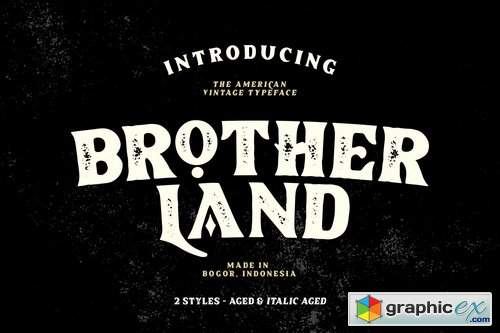 Brotherland Aged Font