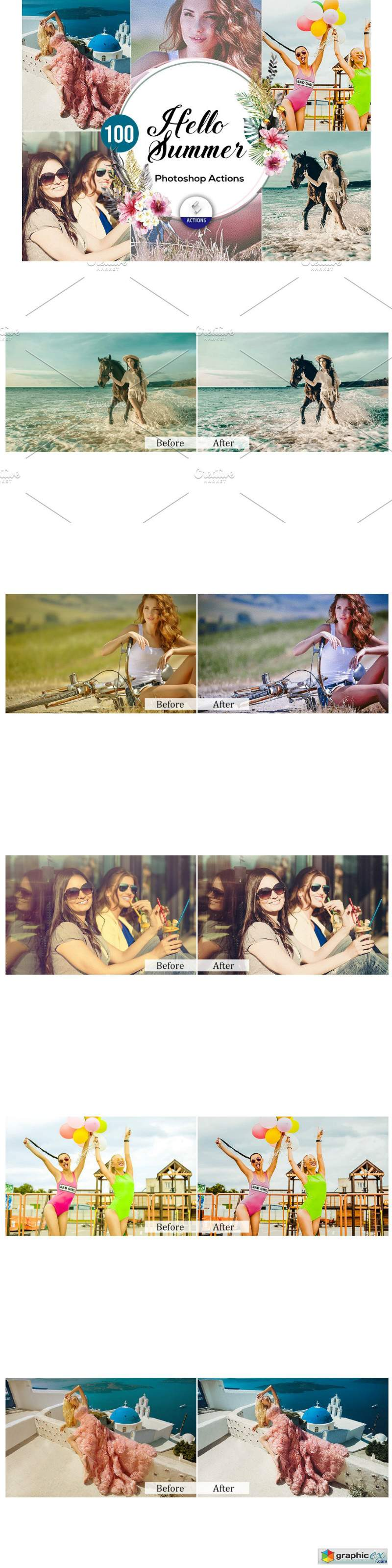 100 Hello Summer Photoshop Actions