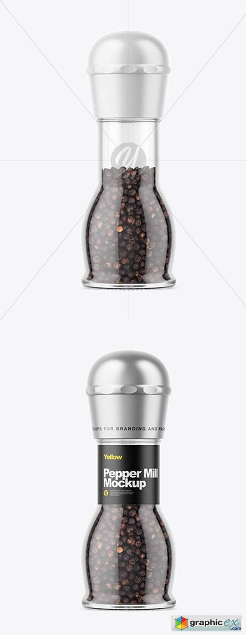 Pepper Mill Mockup