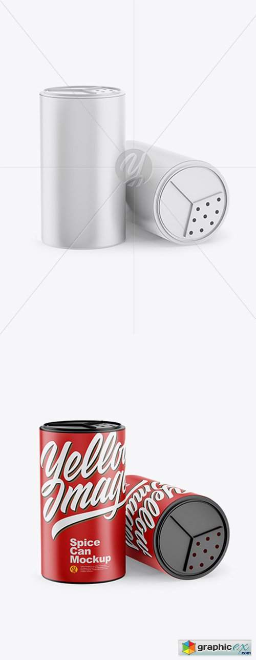 Two Matte Spice Cans Mockup