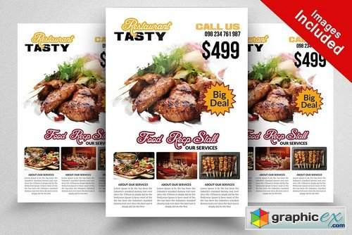 Restaurant Flyer Templates 2100797