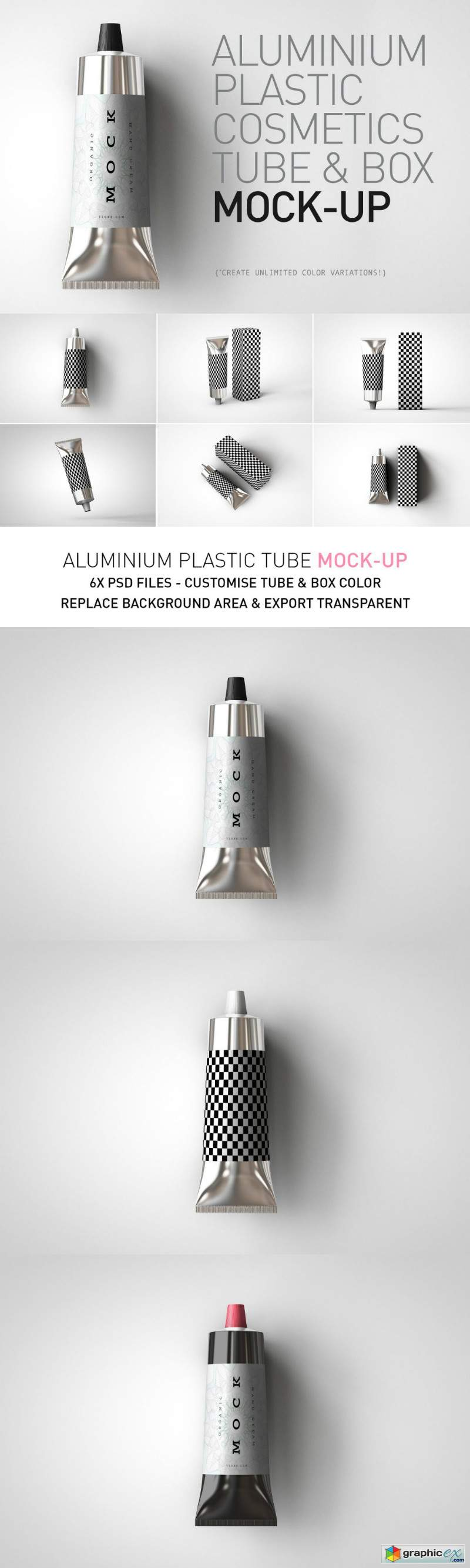 Aluminium Plastic Tube Mock-Up