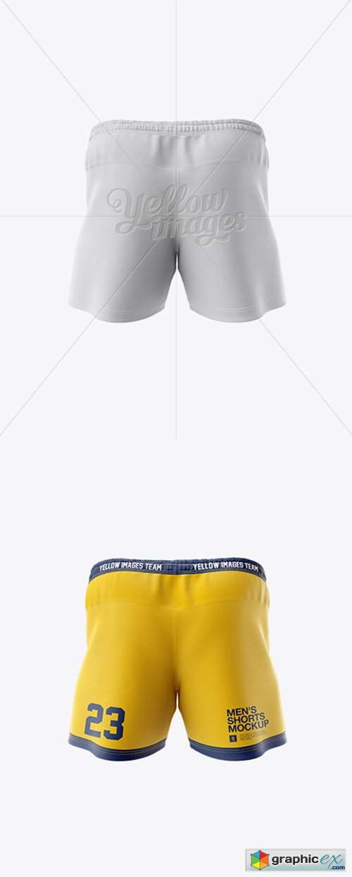 Men's Rugby Shorts HQ Mockup - Back View