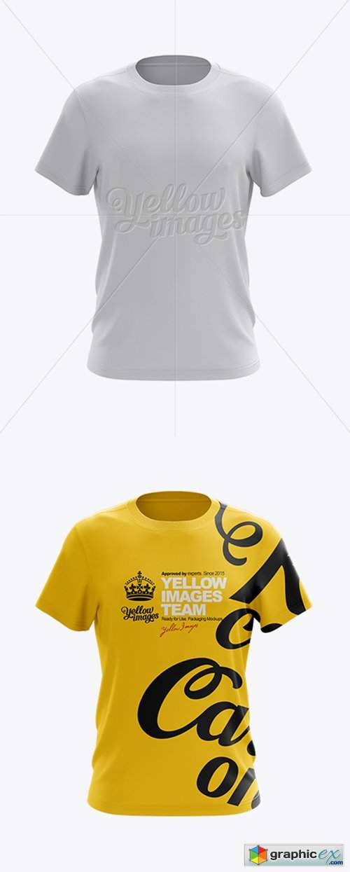 Men's T-Shirt Front View HQ Mockup