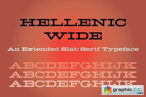 Hellenic Wide Font » Free Download Vector Stock Image