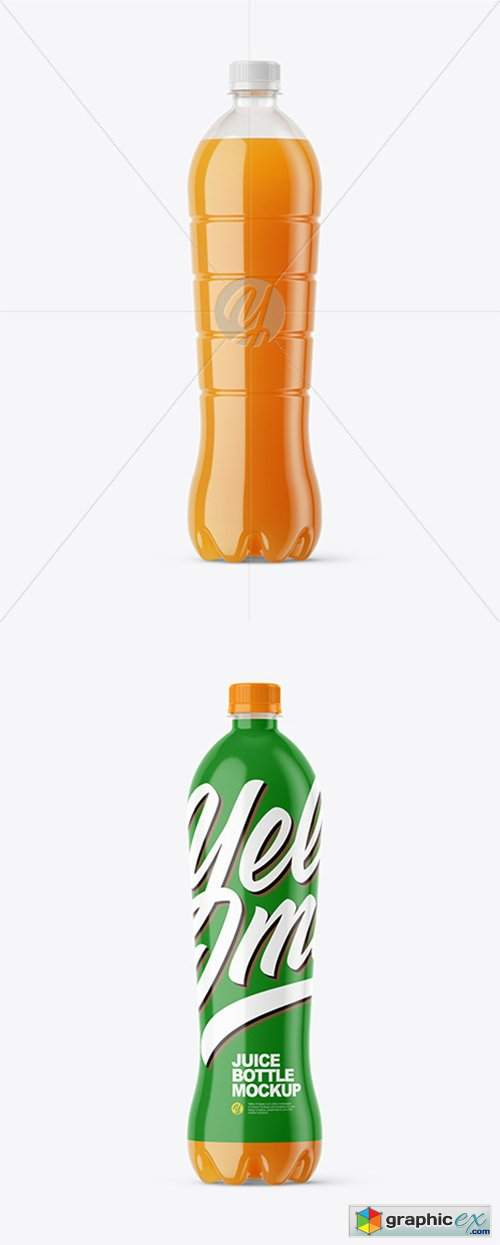 1,5L Carrot Juice Bottle Mockup