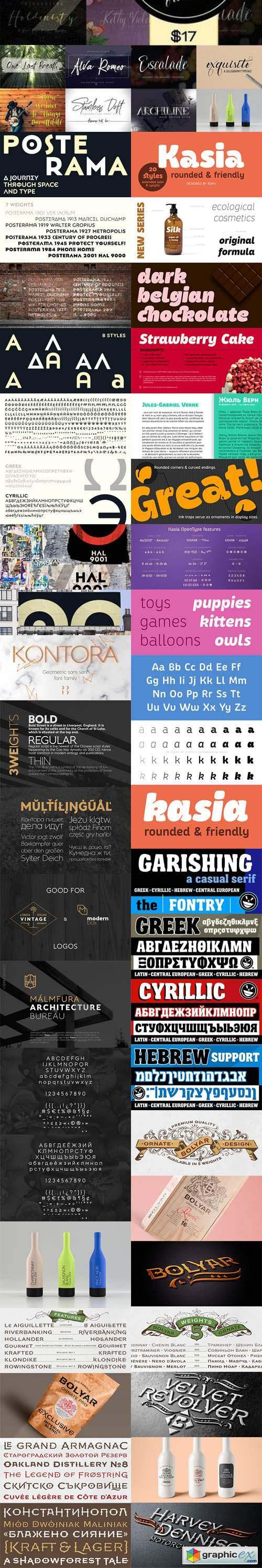 MEGAFONT - 500+ Fonts Big Bundle