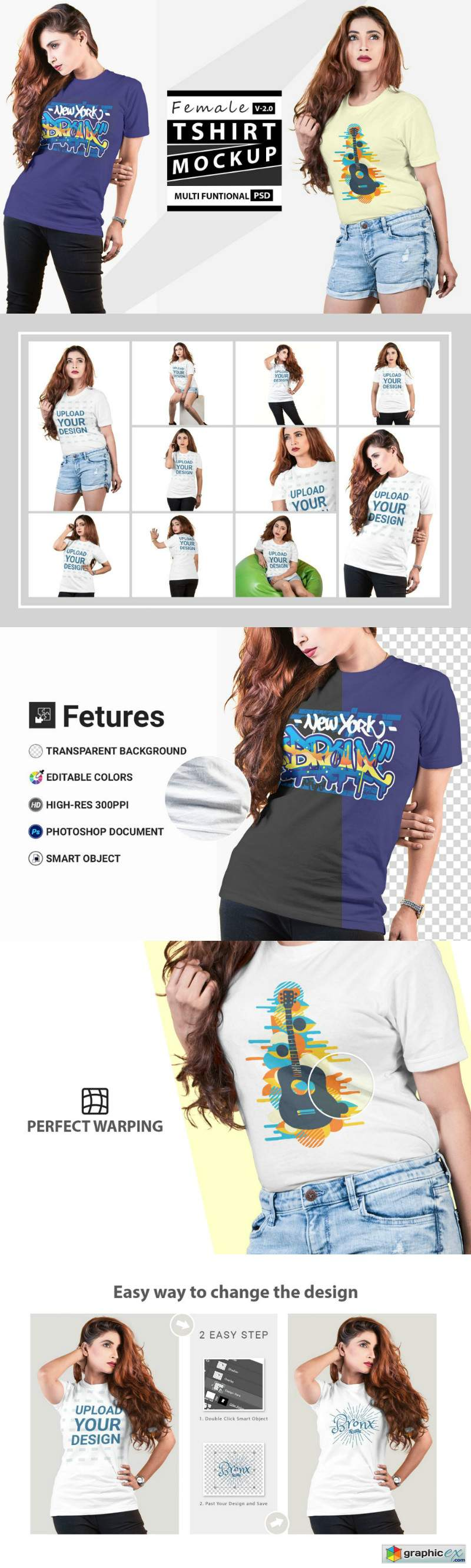Female t-shirt Mockup-V-2-001